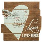 Love Lives Here Wood Decor